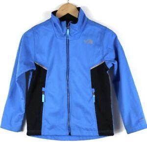 The North Face Boy's Kids Full Zip Jacket Windbreaker Blue Wind Wall Sz M 10/12