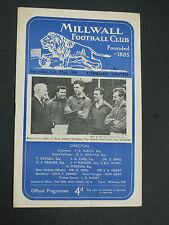 Millwall V Torquay  1957/8
