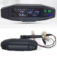 12V Motorrad Kilometerzähler Tachometer Odometer LCD Display Tacho DE