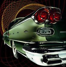1958 Pontiac BONNEVILLE, GREEN, Car Art, Refrigerator Magnet, 40 MIL