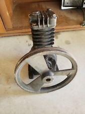 Vintage Air Compressor Pump Flywheel Pulley Spins Free