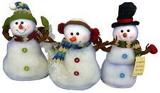 30cm Light Up Snowman Figure Christmas Decoration - Colour Changing (DS5)