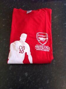 Dennis Bergkamp Testimonial t-shirt 22nd July 2006 Arsenal v Ajax. Size: XL. NEW