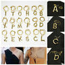 Womens Letter A-Z Pendant Fashion  Gold Plated Initial Alphabet Chain Necklace
