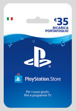 Sony PSN Playstation Store Hanging Card 35 Euro Ricarica Portafoglio