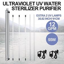 Ultraviolet Filter UV Water Sterilizer Purifier 12GPM Best WholeHouse Top