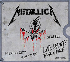 METALLICA (LIVE SHIT: BINGE & PURGE 3CD/2DVD - 5 DISC BOX SET SEALED + FREE POST