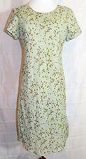 Ice Petite Dress A-Line Sheath Light Green Floral Short Sleeve Chemise size 8P