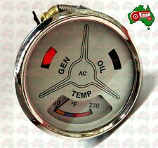 Tractor Water Temperature Oil Gauge Cluster Ford Fordson Major Power Super Major