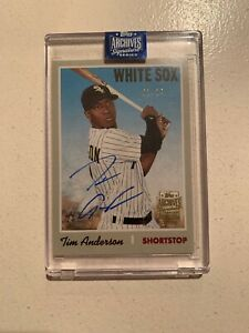 2020 Topps Archives /24 Tim Anderson 2019 Heritage On Card Auto White Sox