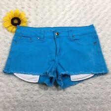 Forever 21 Womens Jean Mini Short Shorts Size 30 Stretch Light Blue Denim fr3493
