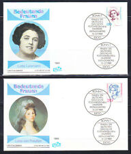 Germany BRD 1989 FDC covers Lotte Lehmann musician & Queen Louise of Prussia