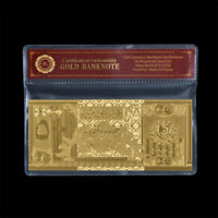 WR Fine Gold Qatar Banknote Collectible 500 Riyals Polymer Money Bill Gift Items