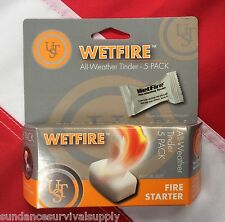 Wetfire all weather tinder 5 pack survival emergency bugoutbag prepper UST GIFT