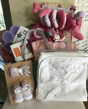 New Baby Girl Gift Set Basket, Large Diaper Caddy for Baby Shower Christmas $215