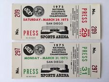 1975 NCAA BASKETBALL TITLE GAME FULL MINT TICKET, UCLA, WOODEN LAST GAME