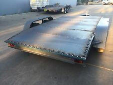 Brand new beavered Car Trailer Tandem axle 12X6.6FT 2T NO RAMPS OR PAINT INCL