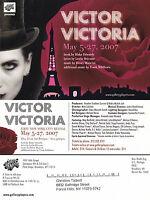 MUSICAL DRAMA - VICTOR VICTORIA ADVERTISING COLOUR POSTCARD