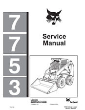 New Bobcat 7753 Skid Steer Loader 1991 Edition Service Manual Free Shipping