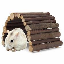 Hamster Hedgehog Mouse Rat Toy Wooden Seesaw Hanging Ladder Bridge Exercise Play