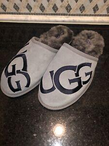 Men's UGG Scuff Logo- Gray Grey- size 11- #1101324