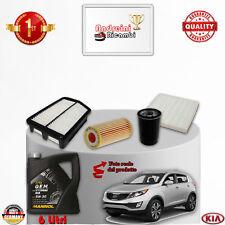 KIT TAGLIANDO FILTRI + OLIO KIA SPORTAGE III 1.7 CRDI 85KW 115CV DAL 2012 ->