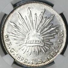 1892-Ga NGC MS 63 Mexico 8 Reales Guadalajara Mint State Silver Coin (20041802C)