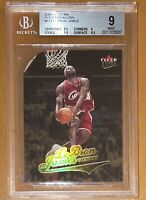 2004-05 LeBron James FLEER ULTRA DIE CUT GOLD MEDALLION #114 BGS 9, 9.5 subs PSA