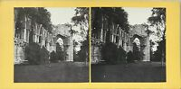Ruines Architettura Gotico UK Foto Stereo Vintage Albumina c1865