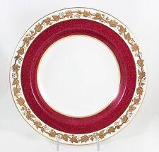 FINE SET 8 RIM SOUP BOWLS WHITEHALL POWDER RUBY WEDGWOOD BONE CHINA W3994 GOLD