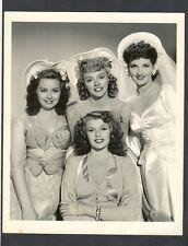 SEXY RITA HAYWORTH + 3 BEAUTIFUL GIRLS - EXC COND 1942 - NEVER LOVELIER MUSICAL