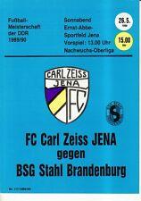 OL 89/90 FC Carl Zeiss Jena-acciaio Brandeburgo (RS-A)