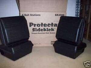 6 Protecta Sidekick Rat / Mouse Rodent Control Bait Station Tamper Proof Boxes