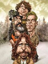 Soundgarden Badmotorfinger Chris Cornell Caricature 90's GrungeSticker or Magnet