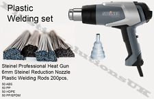 Plastic Welding kit STEINEL Hot air gun plastic welding rods 200pcs nozzle mesh