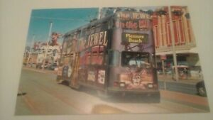 BLACKPOOL TRANSPORT 707 WITH CORAL ISLAND LIVERY ON BLACKPOOL PROMENADE  PHOTO.