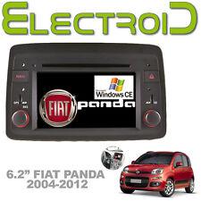 """AUTORADIO 6.2"""" WINDOWS CE 6.0 SINGLE 1 DIN SPECIFICA PER FIAT PANDA 2004-2012"""