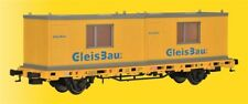 Kibri 26268 gauge H0, Low-Sided Wagon with 2 Containers Track Construction,