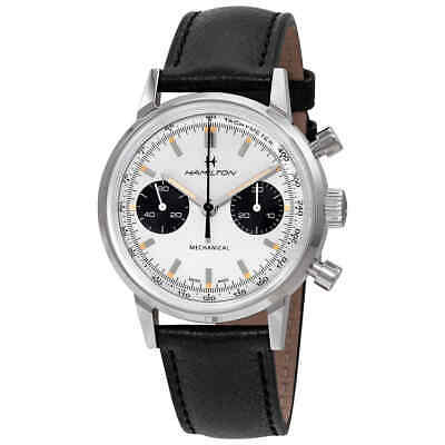 hamilton Intra-Matic Chronograph Hand Wind White Dial Men's Watch H38429710