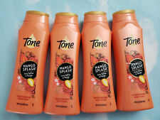 LOT(4) TONE MANGO SPLASH COCOA BUTTER & PAPAYA MOISTURIZING BODY WASH 18 FL OZ