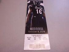 Georgia Bulldogs vs South Carolina Gamecocks 10-8-2016 Football Game Ticket Stub