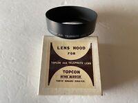 Vintage Topcor Aux Telephoto Lens 80mm 1:4 lens hood w/ original box Japan
