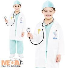 ER Doctor Boys Fancy Dress Hospital Emergency Uniform Kids Childs Costume Outfit