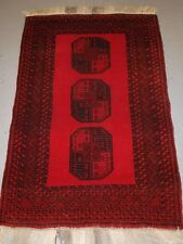 OLD AFGHAN VILLAGE RUG, BRIGHT RED COLOUR, VERY TOUGH HARD WEARING RUG, C 1950.