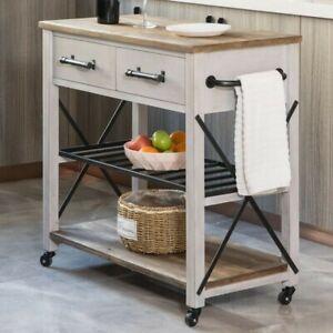Zarmig Aurora Kitchen Cart with Wheels/Bar Cart, Wooden, Wine Storage/Cookware