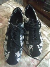 black and grey coach shoes size 9 1/2