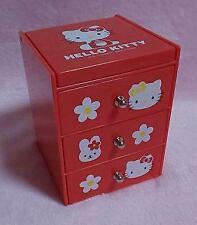 Sanrio Hello Kitty Mini Chest Accessory Case with Mirror Vintage 2001 Rare Japan