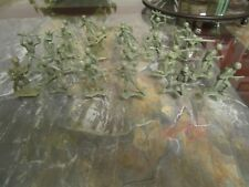 Green Army Men Lot Vintage Toy Soldier Play Set Figures Marx