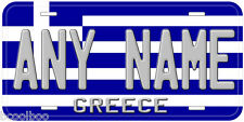 Greece Flag Any Name Number Novelty Car License Plate