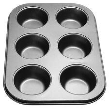 Prima 6 CUP MUFFIN CAKE PAN BAKING TRAY DEEP TIN FAIRY CUPCAKE STEEL BAKEWARE